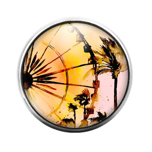 Ferris Wheel - 18MM Glass Dome Candy Snap Charm GD1414