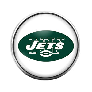 New York Jets- 18MM Glass Dome Candy Snap Charm GD0947