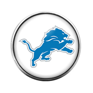 Detroit Lions- 18MM Glass Dome Candy Snap Charm GD0948