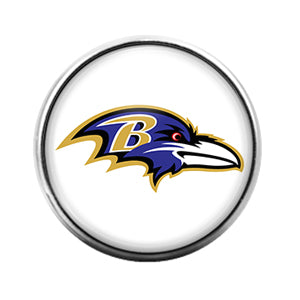 Baltimore Ravens- 18MM Glass Dome Candy Snap Charm GD0950