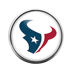 Houston Texans- 18MM Glass Dome Candy Snap Charm GD0953