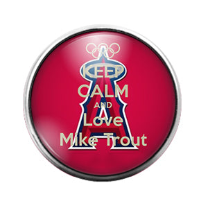 Los Angeles Angels Trout- 18MM Glass Dome Candy Snap Charm GD0957