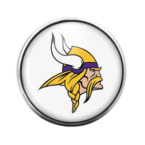 Minnesota Vikings- 18MM Glass Dome Candy Snap Charm GD0954
