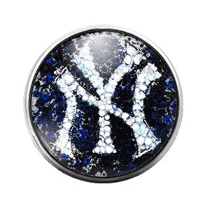 New York Yankees- 18MM Glass Dome Candy Snap Charm GD0980