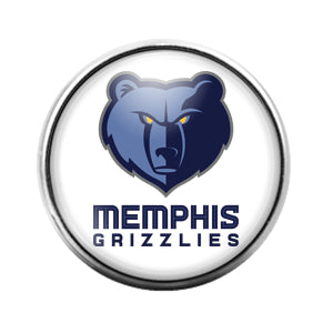 Memphis Grizzlies- 18MM Glass Dome Candy Snap Charm GD0985