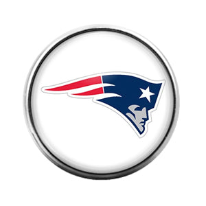 Patriots- 18MM Glass Dome Candy Snap Charm GD1032