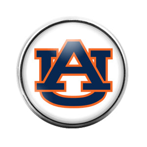 Auburn University- 18MM Glass Dome Candy Snap Charm GD1074