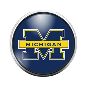 Michigan State- 18MM Glass Dome Candy Snap Charm GD1106