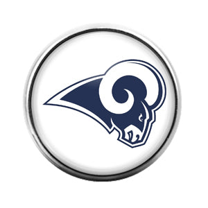 Los Angeles Rams- 18MM Glass Dome Candy Snap Charm GD1121