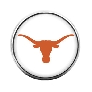 Texas Longhorns- 18MM Glass Dome Candy Snap Charm GD1147