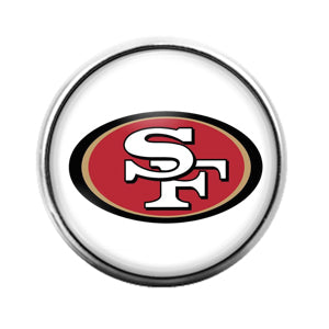 San Francisco 49'ers- 18MM Glass Dome Candy Snap Charm GD1148
