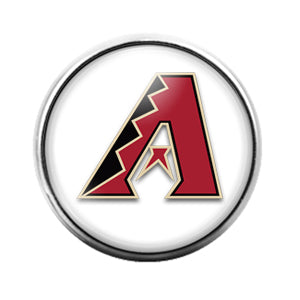 Arizona Diamondbacks- 18MM Glass Dome Candy Snap Charm GD1154
