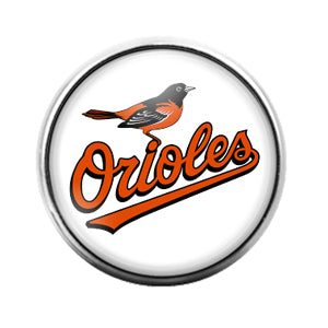 Baltimore Orioles- 18MM Glass Dome Candy Snap Charm GD1157