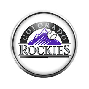 Colorado Rockies- 18MM Glass Dome Candy Snap Charm GD1159