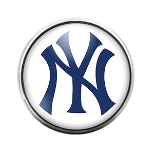New York Yankees- 18MM Glass Dome Candy Snap Charm GD1161