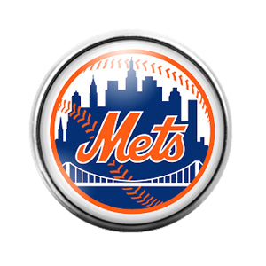 New York Mets- 18MM Glass Dome Candy Snap Charm GD1162