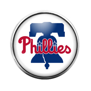 Philadelphia Phillies- 18MM Glass Dome Candy Snap Charm GD1163