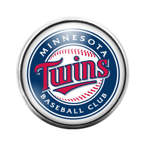 Minnesota Twins- 18MM Glass Dome Candy Snap Charm GD1164