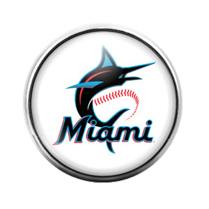 Miami Marlins- 18MM Glass Dome Candy Snap Charm GD1166