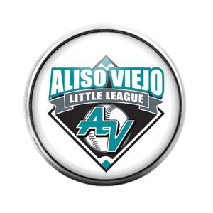Aliso Viejo Little League- 18MM Glass Dome Candy Snap Charm GD1175
