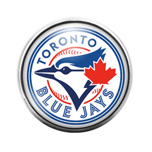 Toronto Blue Jays- 18MM Glass Dome Candy Snap Charm GD1179