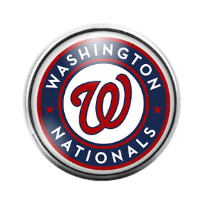 Washington Nationals- 18MM Glass Dome Candy Snap Charm GD1181