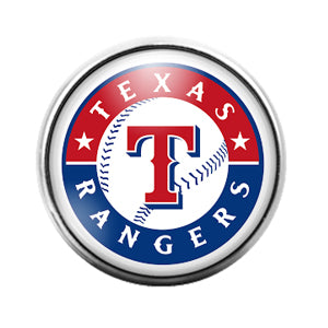 Texas Rangers- 18MM Glass Dome Candy Snap Charm GD1183