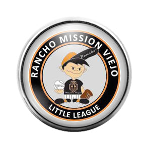 Rancho Mission Little League- 18MM Glass Dome Candy Snap Charm GD1184