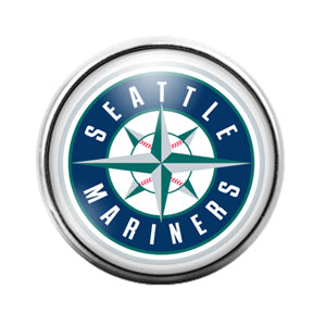Seattle Mariners- 18MM Glass Dome Candy Snap Charm GD1185