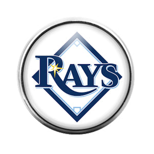 Tampa Bay Rays- 18MM Glass Dome Candy Snap Charm GD1186