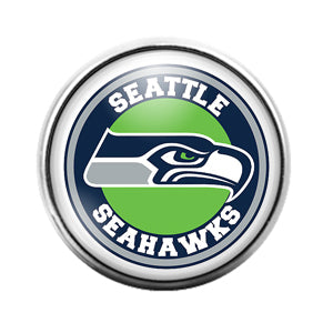 Seattle Seahawks- 18MM Glass Dome Candy Snap Charm GD1187