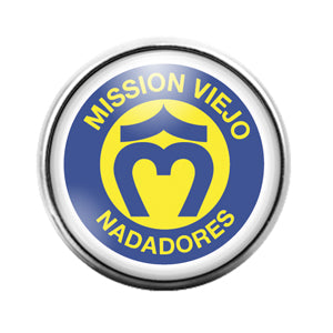 Mission Viejo Nadadores- 18MM Glass Dome Candy Snap Charm GD1194