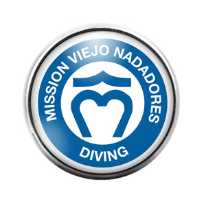 Mission Viejo Nadadores- 18MM Glass Dome Candy Snap Charm GD1193