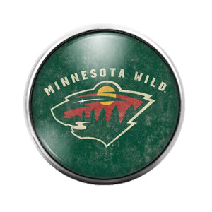 Minnesota Wild- 18MM Glass Dome Candy Snap Charm GD1201