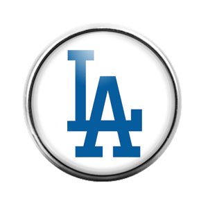 Los Angeles Dodgers - 18MM Glass Dome Candy Snap Charm GD1238