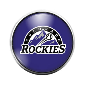 Colorado Rockies - 18MM Glass Dome Candy Snap Charm GD0006