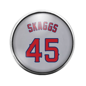 Angels Skaggs- 18MM Glass Dome Candy Snap Charm GD1537