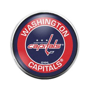 Washington Capitals- 18MM Glass Dome Candy Snap Charm GD1551