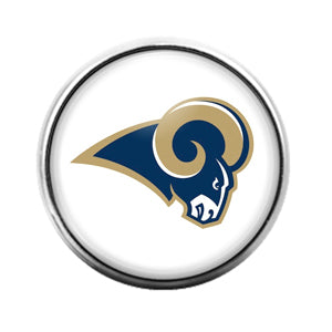 Los Angeles Rams- 18MM Glass Dome Candy Snap Charm GD1555