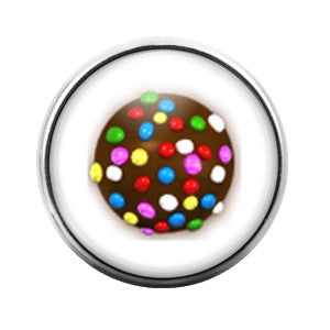 Candy Crush Multi- 18MM Glass Dome Candy Snap Charm GD0231