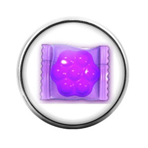 Candy Crush Purple- 18MM Glass Dome Candy Snap Charm GD0232