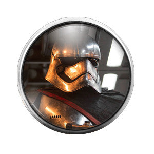 Star Wars Captain Phasma - 18MM Glass Dome Candy Snap Charm GD0180