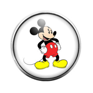 Mickey Mouse - 18MM Glass Dome Candy Snap Charm GD0179
