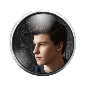 Shawn Mendes- 18MM Glass Dome Candy Snap Charm GD0340