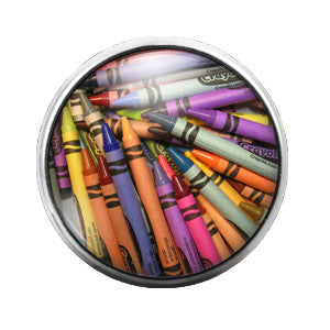Crayons Crayola- 18MM Glass Dome Candy Snap Charm GD0161