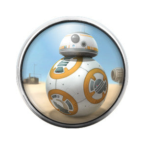 Star Wars BB8 - 18MM Glass Dome Candy Snap Charm GD0169