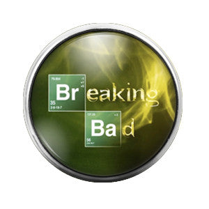 Breaking Bad - 18MM Glass Dome Candy Snap Charm GD0198