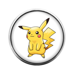 Pikachu- 18MM Glass Dome Candy Snap Charm GD0149