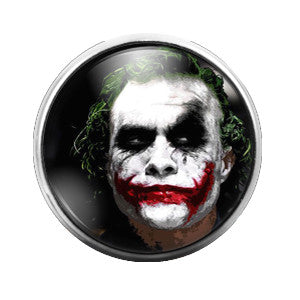 Joker - 18MM Glass Dome Candy Snap Charm GD0203