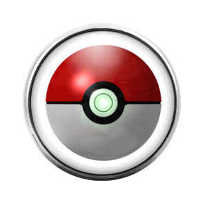 Pokeball- 18MM Glass Dome Candy Snap Charm GD0146